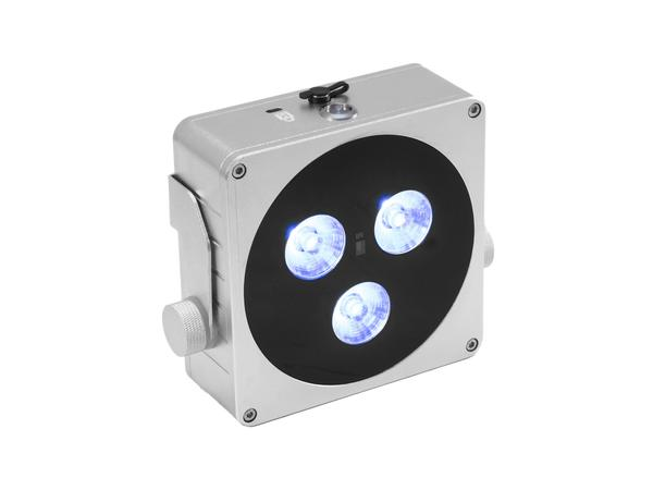 Akutoitel LED proźektor - EUROLITE AKKU Flat Light 3 sil